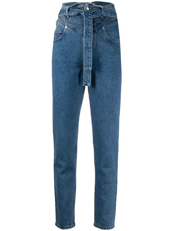 The Attico high rise skinny jeans in blue