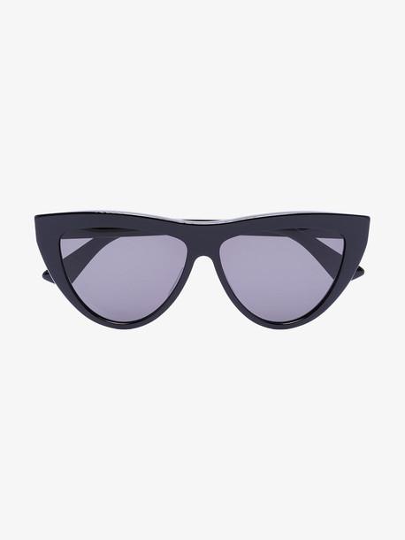 Bottega Veneta Eyewear Black cat eye sunglasses