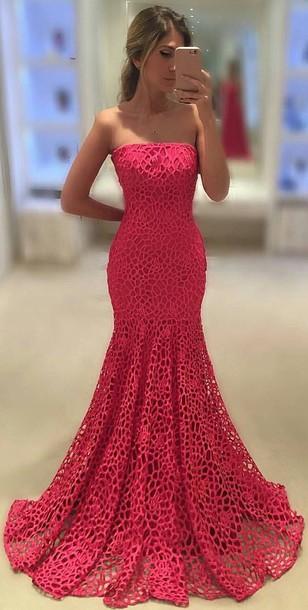 dress mermaid prom dress mermaid mermaid dresses pink pink dress pink mermaid