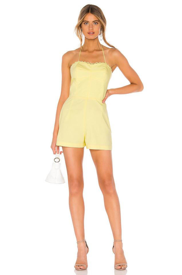Amanda Uprichard Laurenesse Romper in yellow