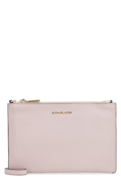 Michael Kors Leather Crossbody Bag in pink