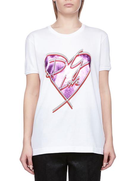 Dolce & Gabbana Printed T-shirt in bianco
