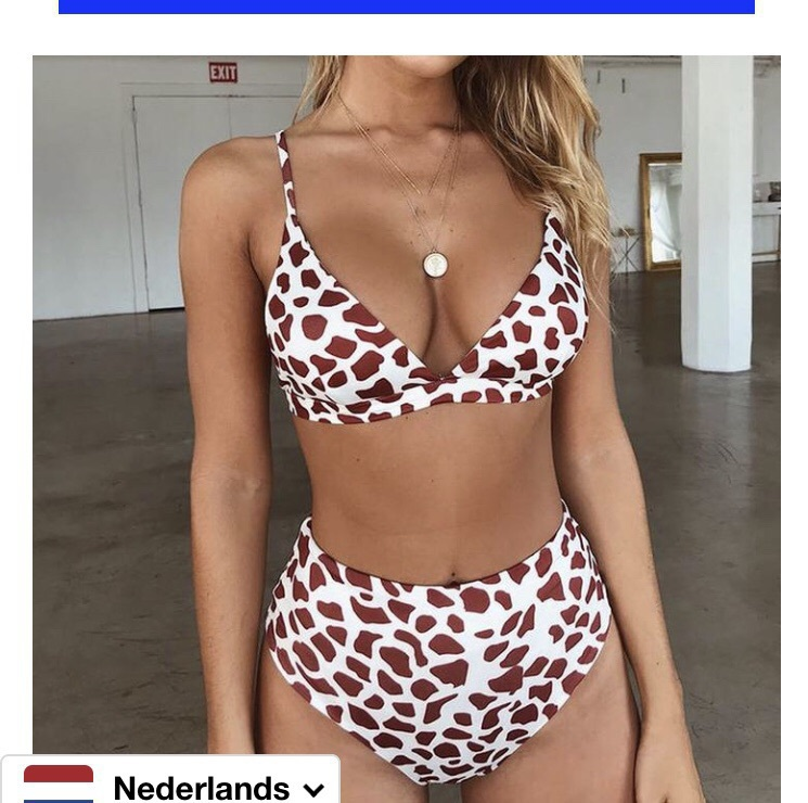 swimwear giraffe printed swimwear high waisted