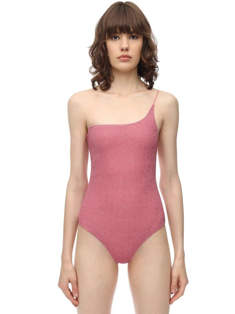 OSÉREE SWIMWEAR Lurex & Lycra One Piece Swimsuit in pink