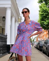 dress,mini dress,floral dress,short sleeve dress