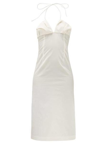 Jacquemus - Bambino Halterneck Pleated Dress - Womens - White