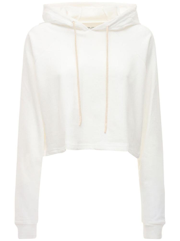 SPLITS59 Zoey Cotton Sweatshirt Hoodie in white
