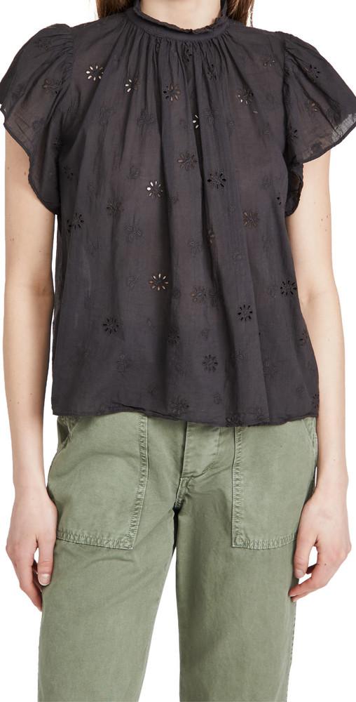 Birds of Paradis Carla High Neck Shirt in black