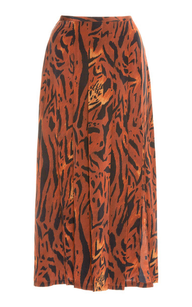 RIXO Georgia Midi Skirt Size: XL in print