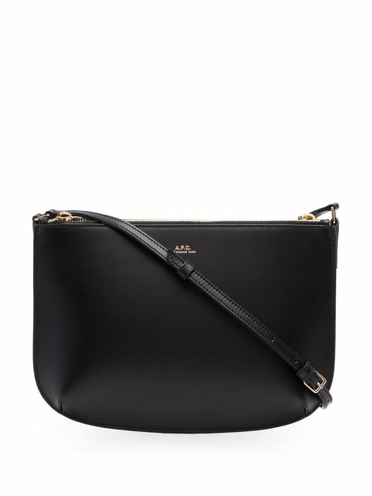 A.P.C. A.P.C. Sarah leather shoulder bag - Black