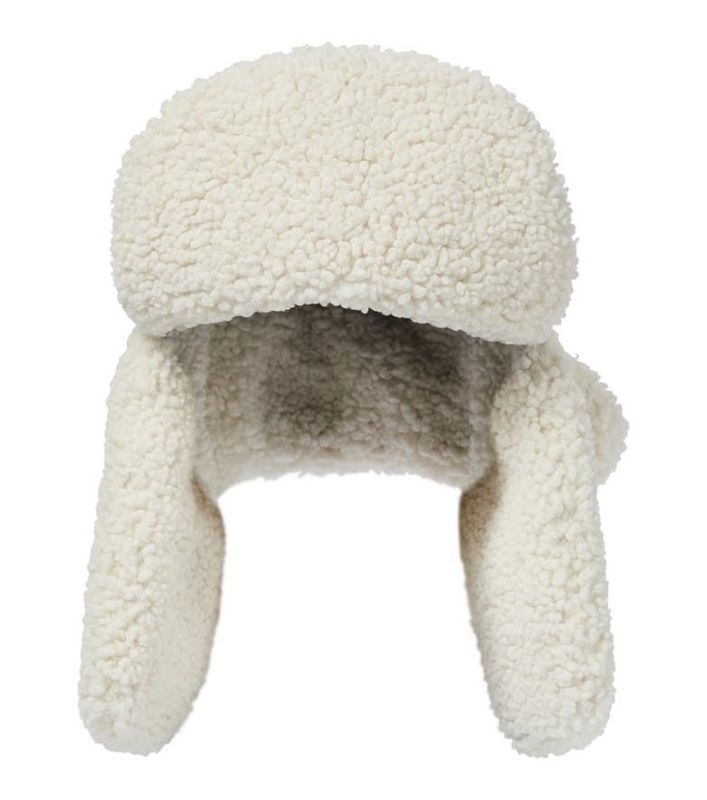 RUSLAN BAGINSKIY Faux shearling hat in white