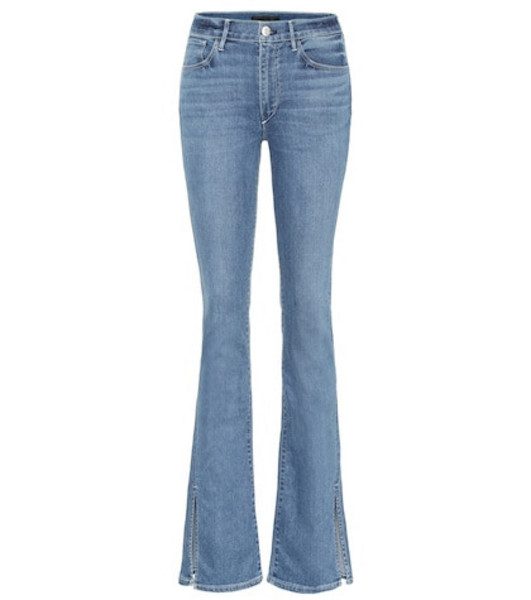 3x1 W3 Split Seam Bell high-rise jeans in blue