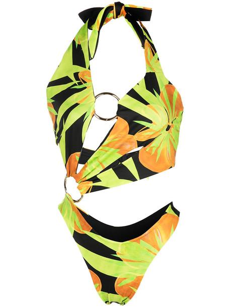 Louisa Ballou cutout halterneck swimsuit - Black