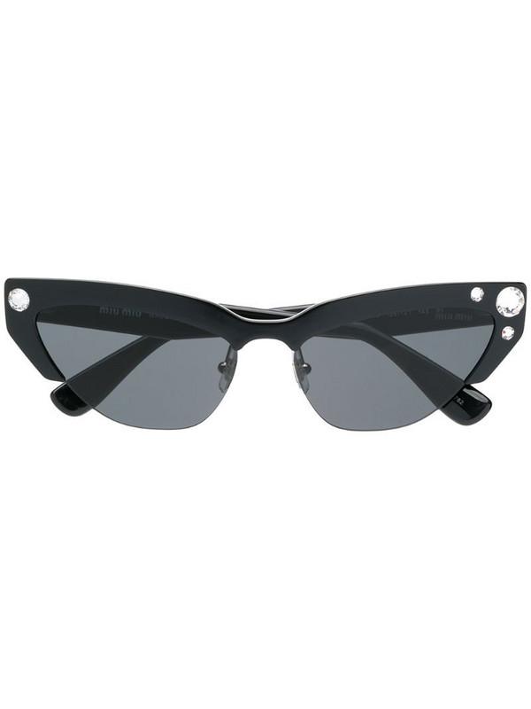 Miu Miu Eyewear SMU04U sunglasses in black