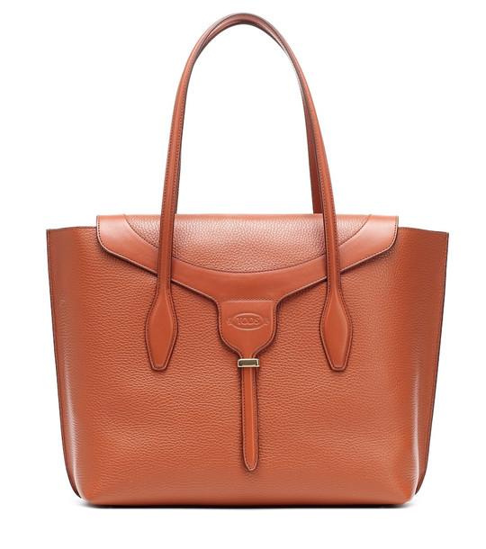 Tod's Joy Medium leather tote in brown
