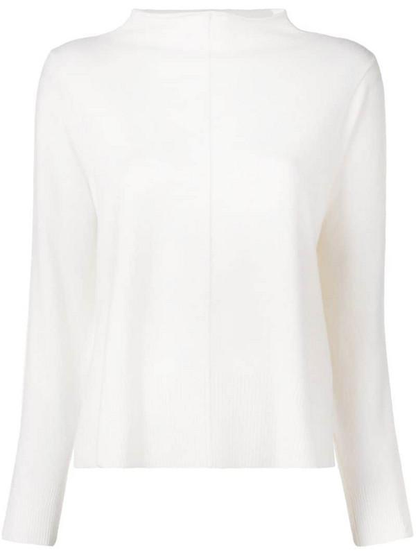 Lorena Antoniazzi funnel neck jumper in white