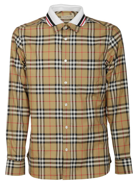 Burberry Checked Shirt in brown