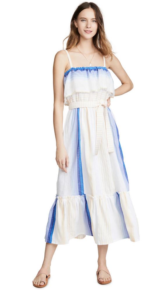 Lemlem Biftu Ruffle Dress in blue