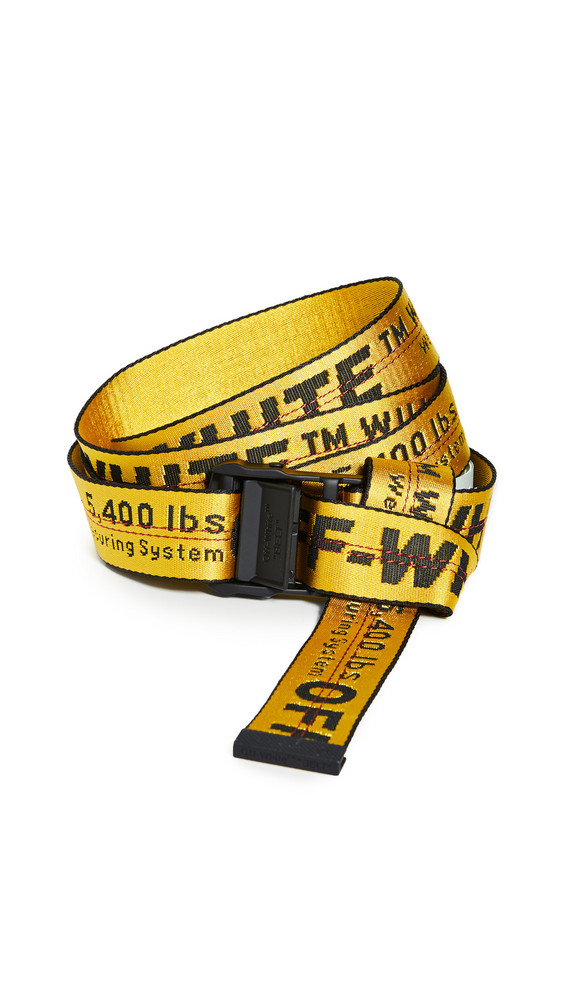 Off-White Classic Industrial Belt in black / yellow