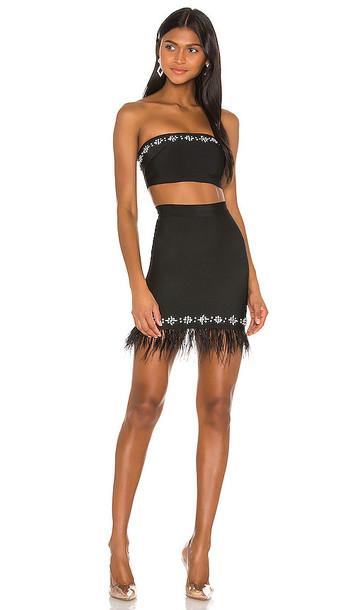 superdown x Draya Michele Makayla Skirt Set in Black