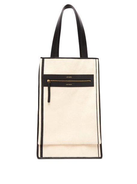 Lutz Morris - Saylor Recycled Cotton-canvas Tote Bag - Womens - Cream Multi