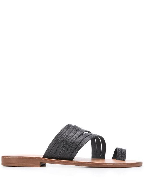 Kurt Geiger London Deliah flat sandals in black