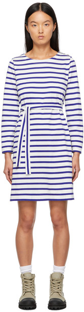 A.P.C. A.P.C. White & Blue Florence Dress