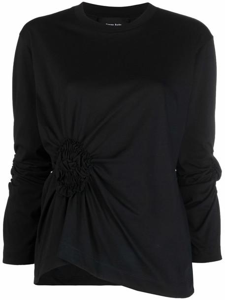 Simone Rocha ruched detail T-shirt - Black