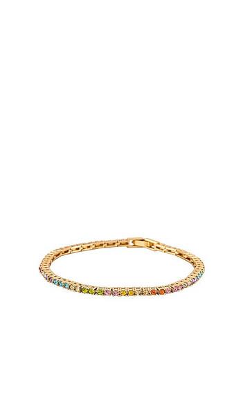 BaubleBar Bennett Bracelet in Metallic Gold in multi