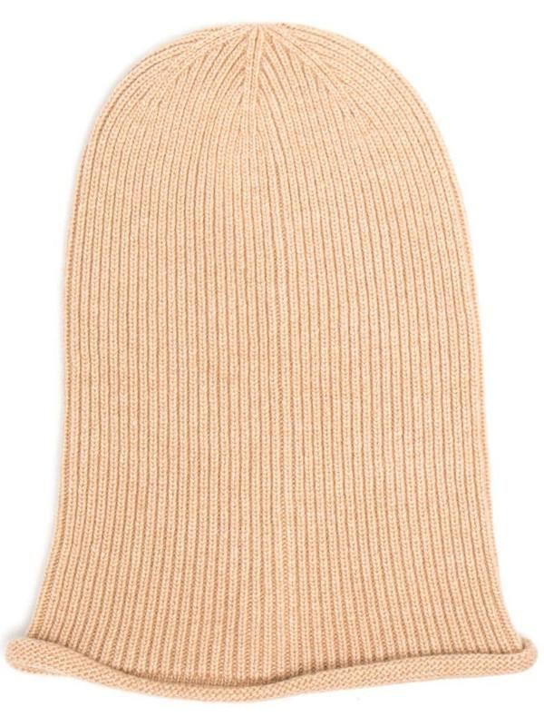 Antonella Rizza knitted beanie hat in neutrals