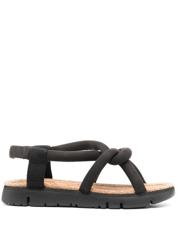 Camper Oruga flat sandals in black