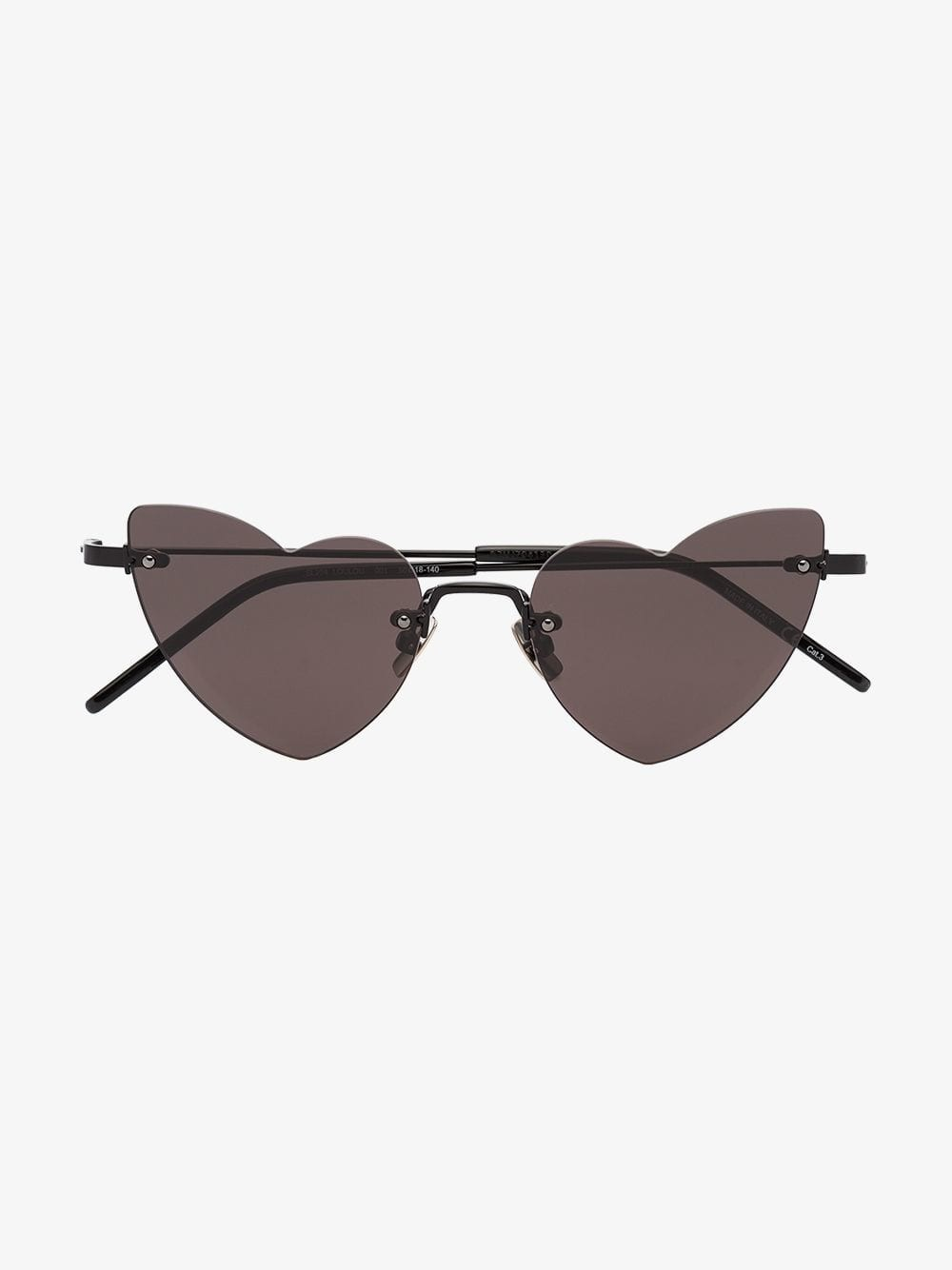 Saint Laurent Eyewear New Wave Lou Lou Heart sunglasses in black