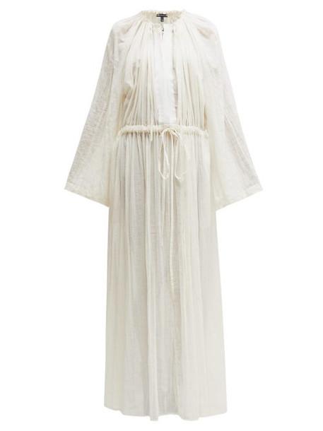 Ann Demeulemeester - Tiriel Gathered Cotton Maxi Dress - Womens - Cream