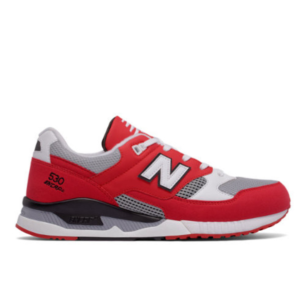 New Balance 530 Leather Textile Men's Running Classics Shoes - Red/Grey/White (M530CVA)