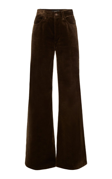 Marc Jacobs Velvet High-Rise Flared Jeans Size: 0 in brown