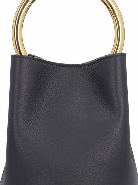 Marni Leather Bucket Bag in black