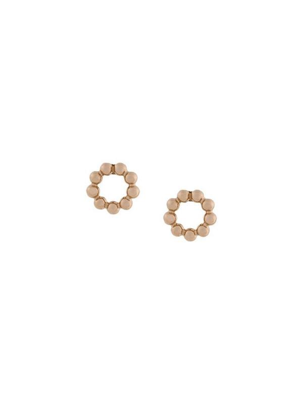 Astley Clarke beaded Stilla stud earrings in metallic