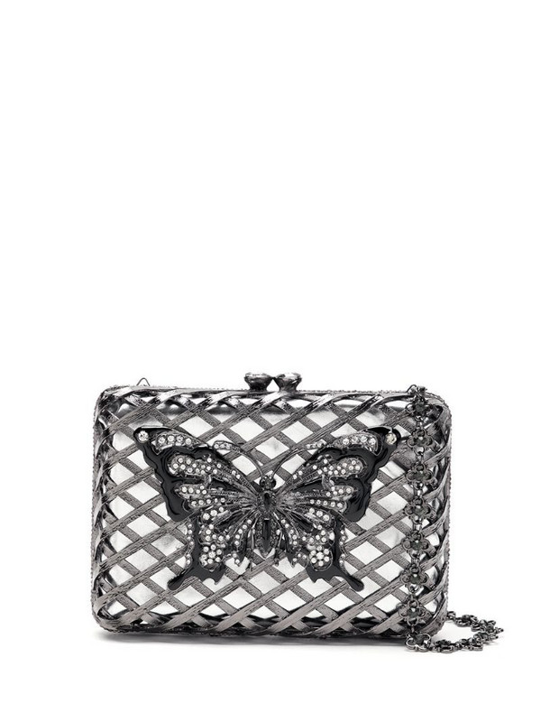Isla embellished clutch in silver