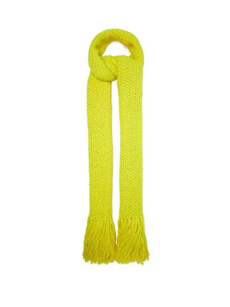 Aessai - La Paz Extra-long Merino Wool-blend Scarf - Womens - Yellow