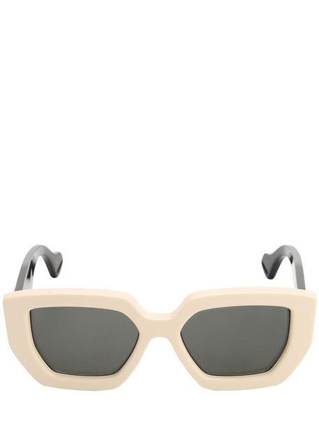 GUCCI Bicolor Squared Acetate Sunglasses in black / ivory