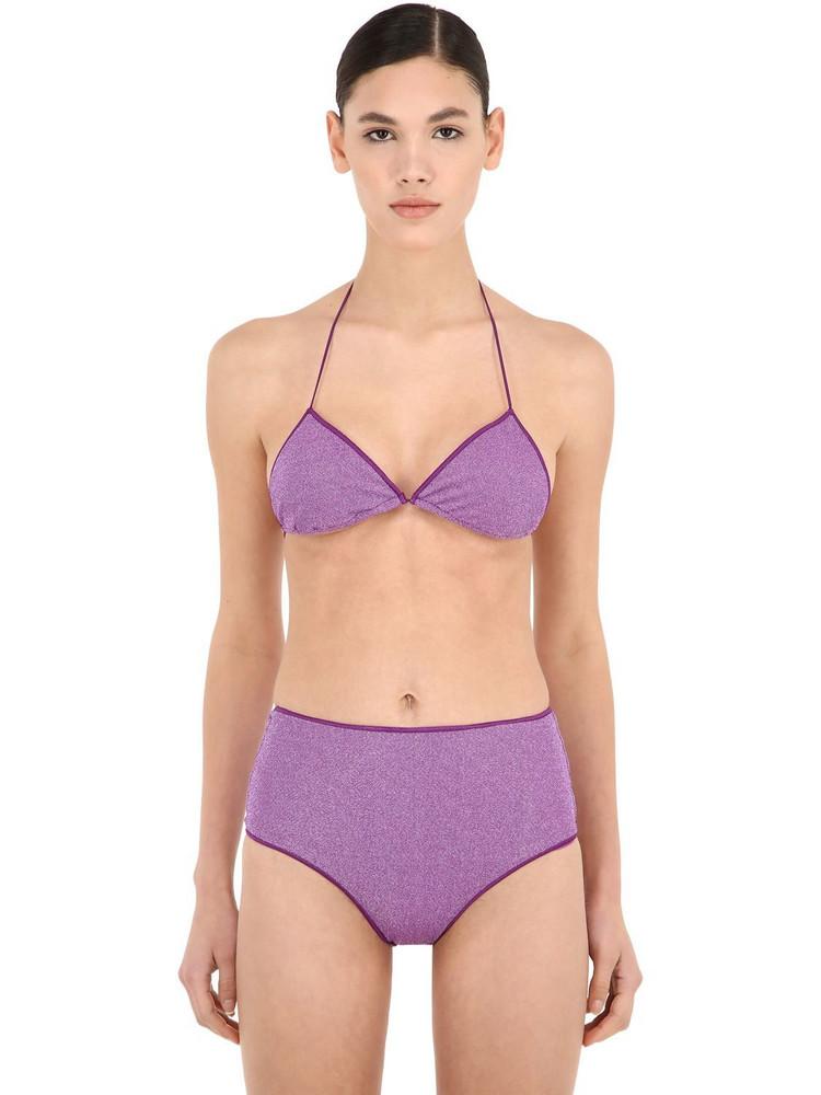 OSÉREE SWIMWEAR High Waisted Lurex & Lycra Bikini in lilac