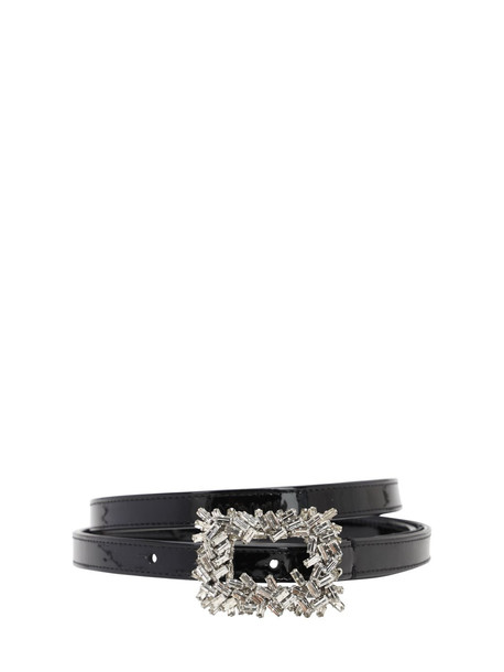 ALEXANDRE VAUTHIER 15mm Embellished Patent Leather Belt in black