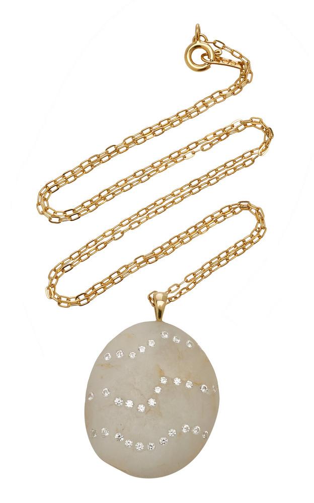 CVC Stones Rococo 18K Gold, Diamond And Stone Necklace in white