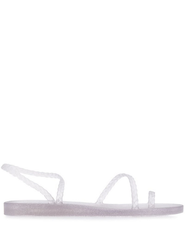 Ancient Greek Sandals Eleftheria glitter sandals in grey