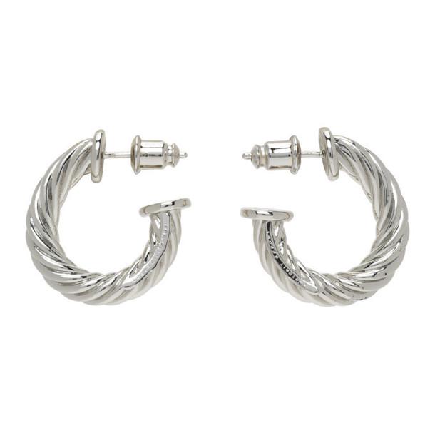 Portrait Report Silver Twist Rope Earrings