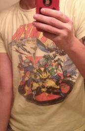 shirt,yellow,yellow shirt,menswear,mens shirt,x men shirt,marvel