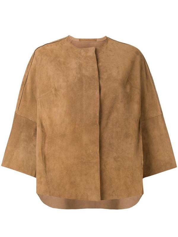 Salvatore Santoro 3/4 sleeves jacket in neutrals