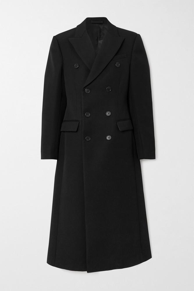 WARDROBE.NYC WARDROBE. NYC - Double-breasted Wool-twill Coat - Black