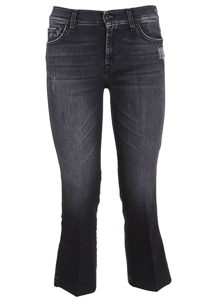 7 For All Mankind Cropped Jeans in nero