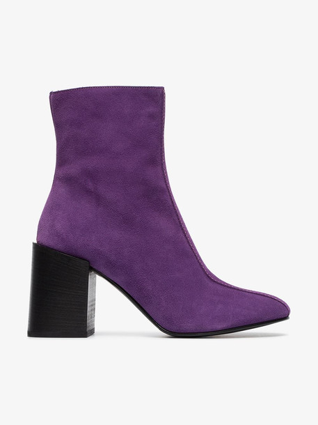 Acne Studios Saul 80 suede ankle boots in purple